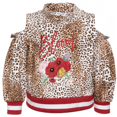 193619RC-3052 Sweater Leopard Monnalisa