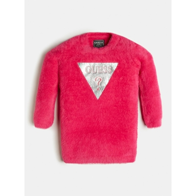 Fluffy jurk Pink Guess