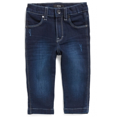 Hugo Boss Slim-fit jeans van donkerblauw stretchdenim