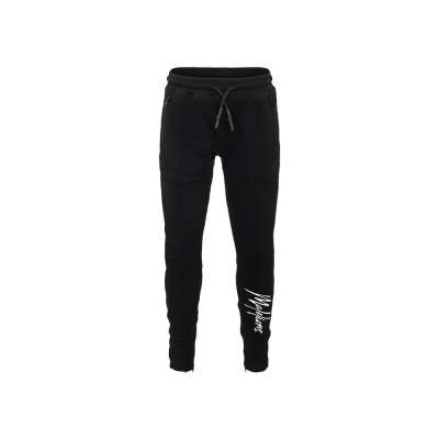 Malelions Junior Trackpants Signature - Black/White
