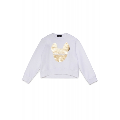 Dsquared2 sweater white/gold