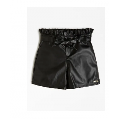 BELTED FAUX LEATHER SHORTS Guess Girl