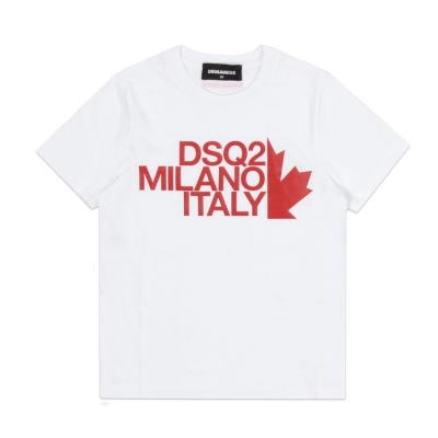 Dsquarerd2 t-shirt white/red