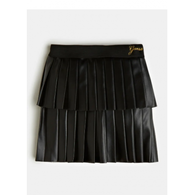 PLEATED FAUX LEATHER SKIRT Guess