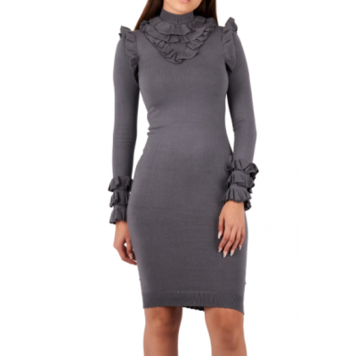 Reinders Marie ruffle Dress Grey Woman