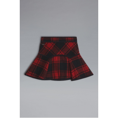 Dsquared2 D2Kids Canadian Check Wool Skirt