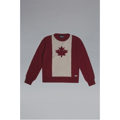 Dsquared2 D2Kids Leaf Knit Sweater