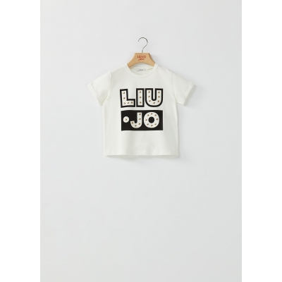 T-shirt With Print And Studs Liu-Jo