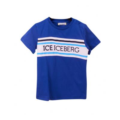 T-shirt Blauw Logo Iceberg