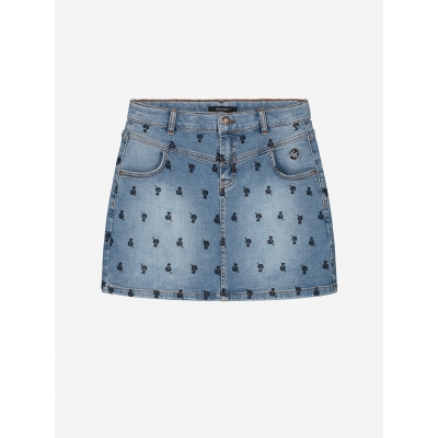 NIK&NIK snake denim skirt