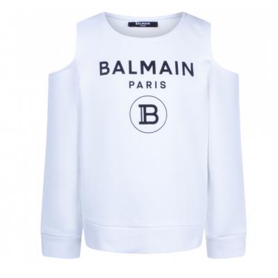 Off-Shoulder Sweater White Balmain