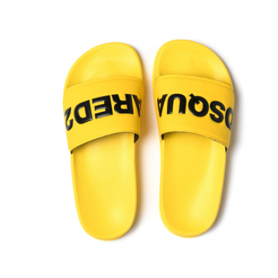Dsquared2 Badslippers Geel