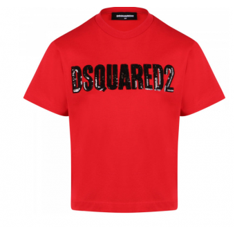 T-shirt girls Dsquared2 red