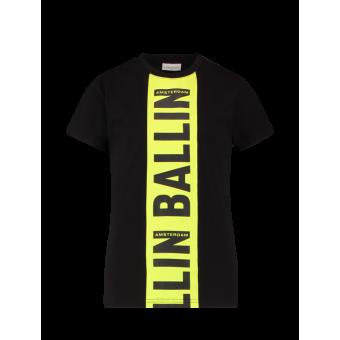 T-shirt Ballin Black/Yellow Pure White