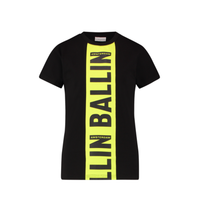 T-shirt Ballin Black/Yellow Pure White