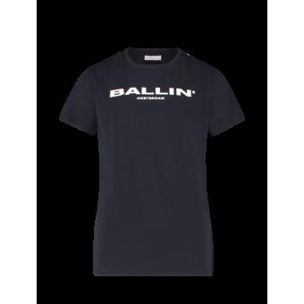 T-shirt Ballin Blue Pure White
