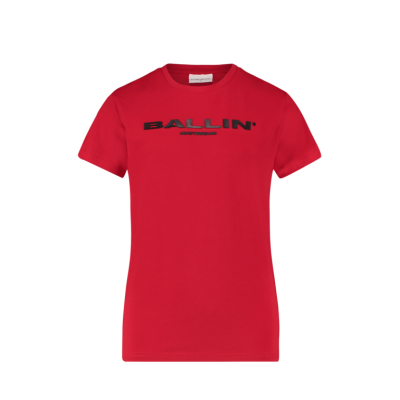 T-shirt Ballin Pure White Red