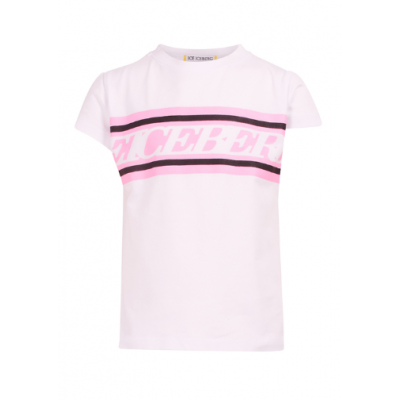 T-shirt wit Roze Girl Iceberg
