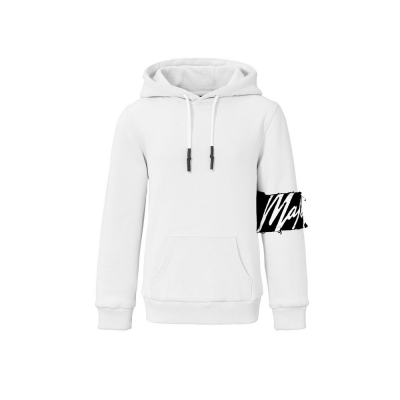 Malelions Junior Captain Hoodie - White/Black