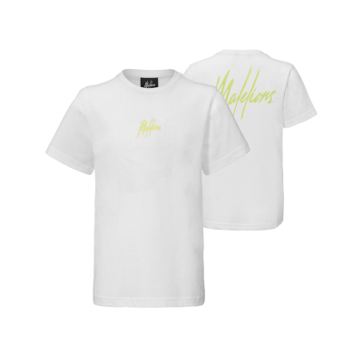 Malelions Junior T-shirt Small Signature - White