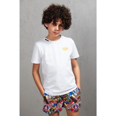White t-shirt Neon orange My Brand