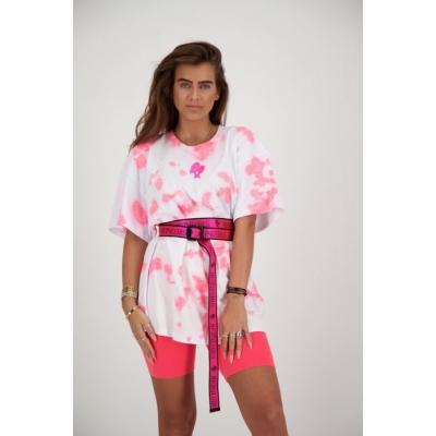 Reinders  T-SHIRT REINDERS TIE DYE Pink Neon