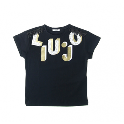 T-shirt nero diamonds Liu.Jo