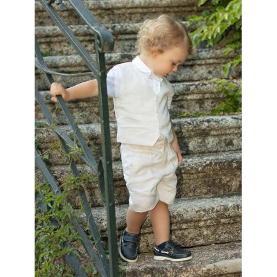 Patachou 2-delige blouse met linnen broek set boy's