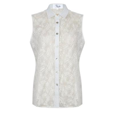 Top met kant off-white Jacky Luxury
