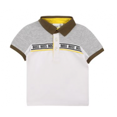 BOSS polo white grey