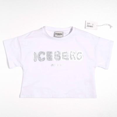 Cropped t-shirt wit Iceberg
