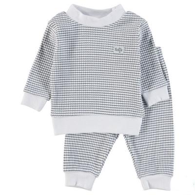 Feetje Pyjama wafel navy
